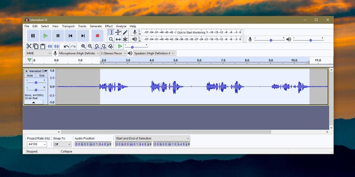 audacity reduce noise