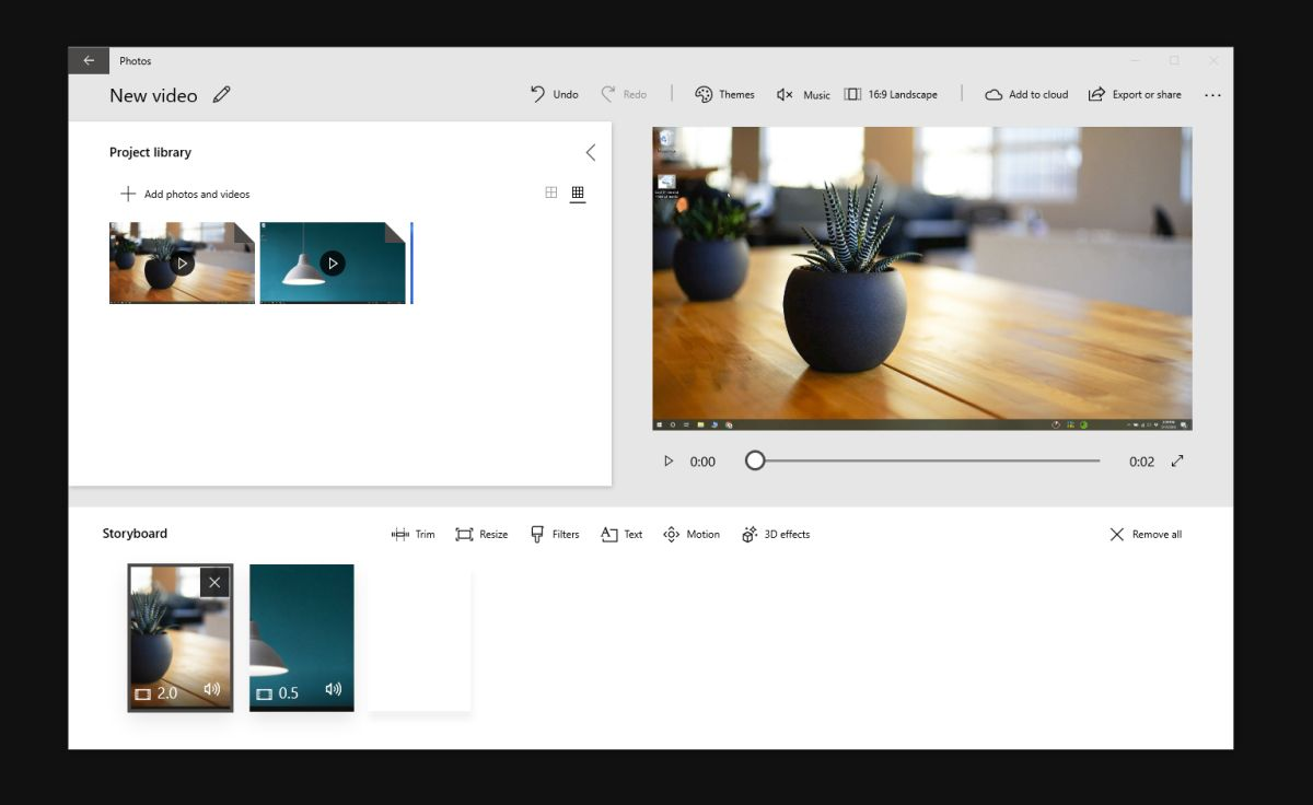 merge videos photos