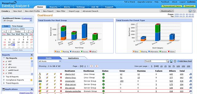 Event Log Analyzer Screenshot