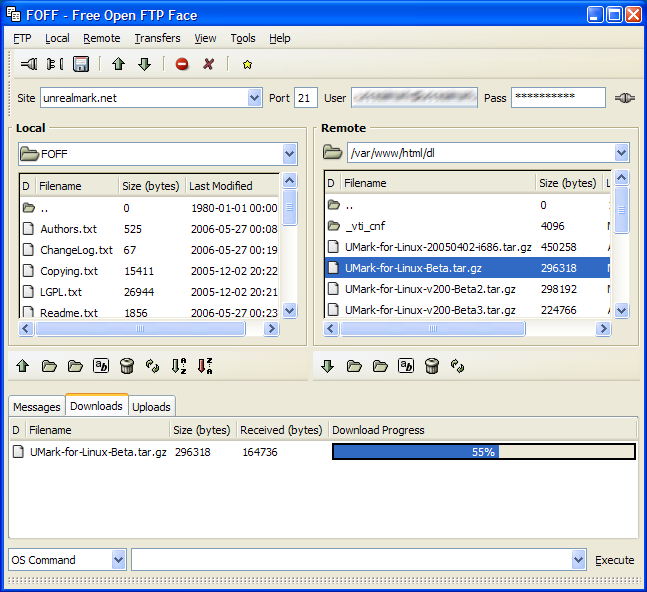 FOFF Windows Screenshot