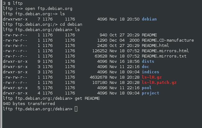 LFTP Screenshot