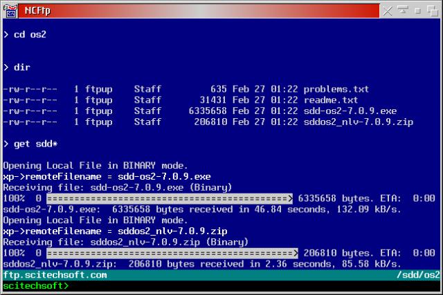 NcFTP Screenshot