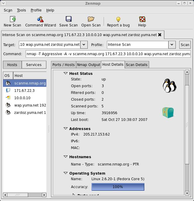 Zenmap GUI Screenshot