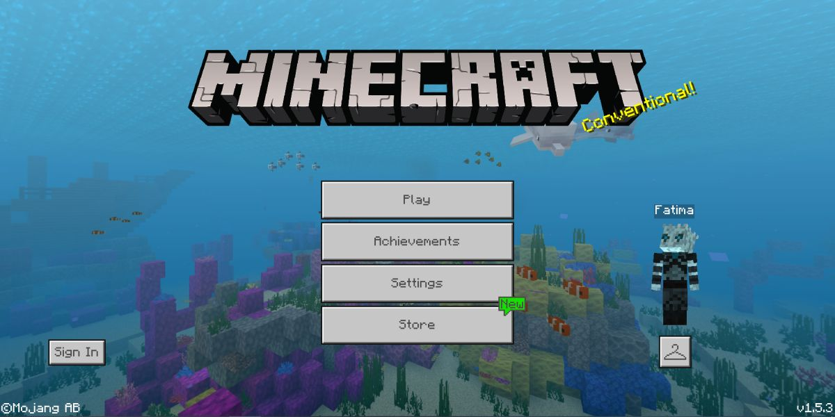minecraft launch screen