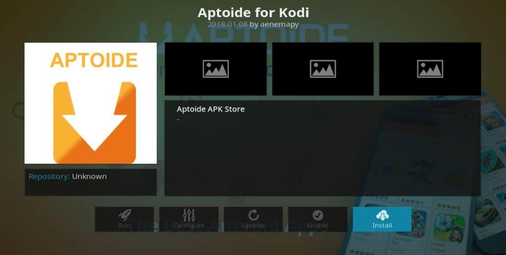 Aptoide Kodi addon