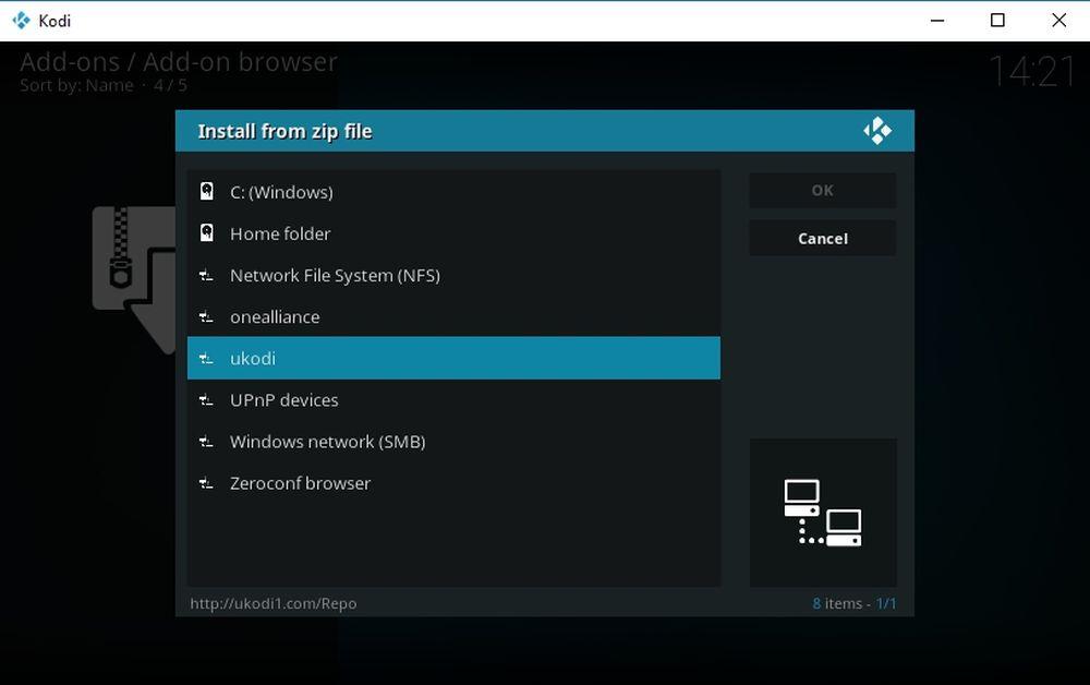 How to Install DeathStar Kodi Add-on 5 ukodi1 repo