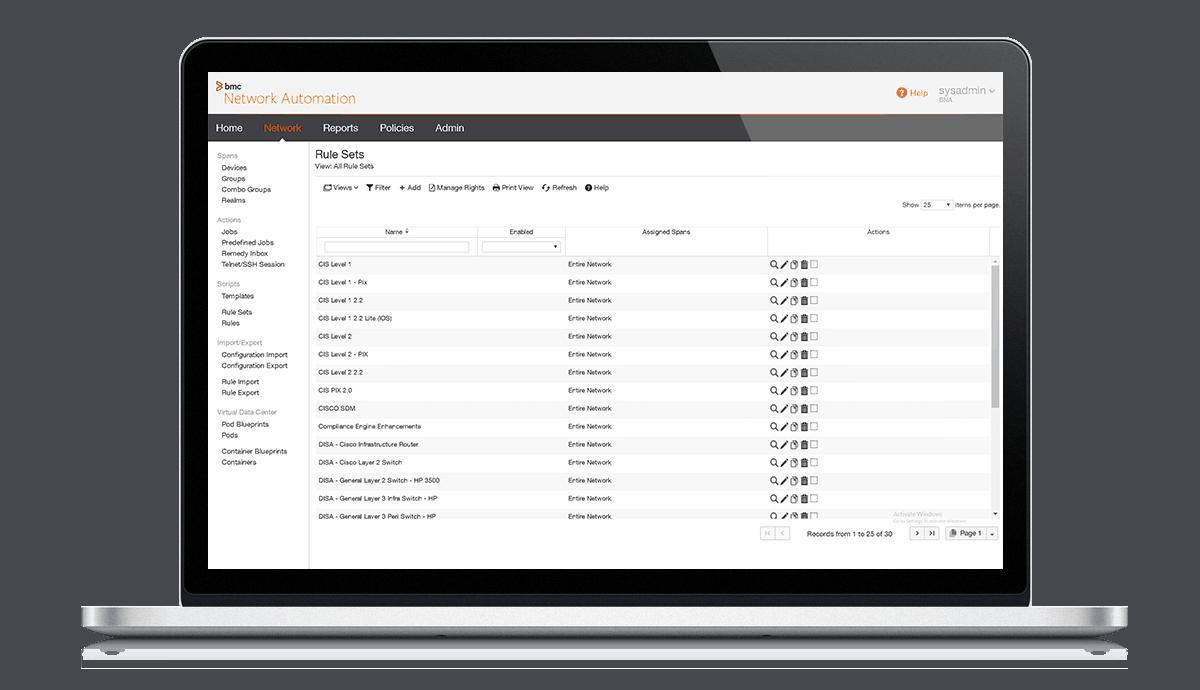 TureSight Network Automation – Screenshot
