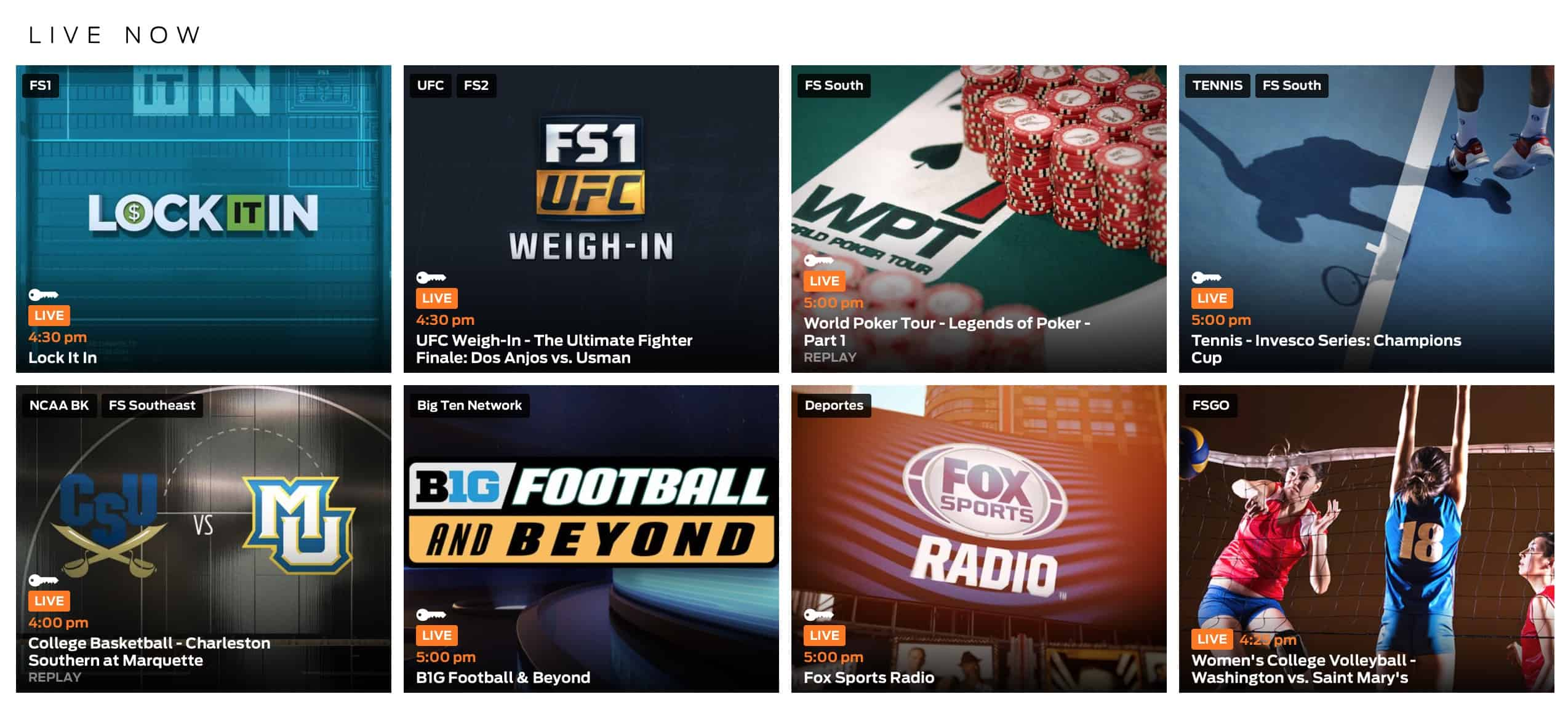 Fox Sports Go Canada – 2 – Multiple Sports