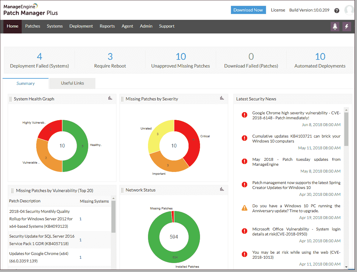 ManageEngine Patch Manager Plus Screenshot