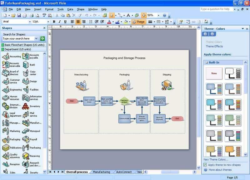 Microsoft Office Visio Screenshot