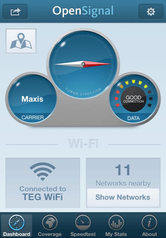 OpenSignal Screenshot