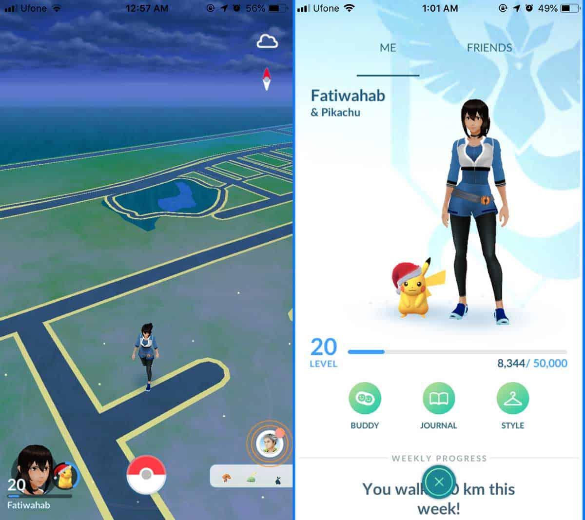 Pokémon Go profile