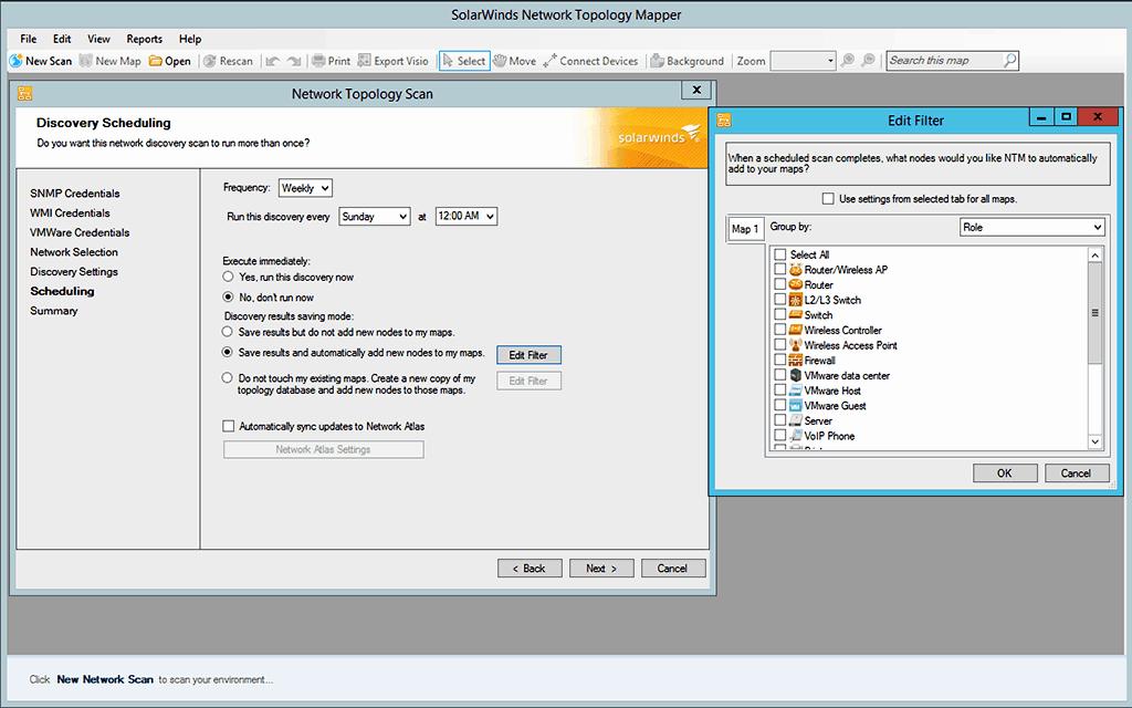 SolarWinds Network Topology Mapper Screenshot