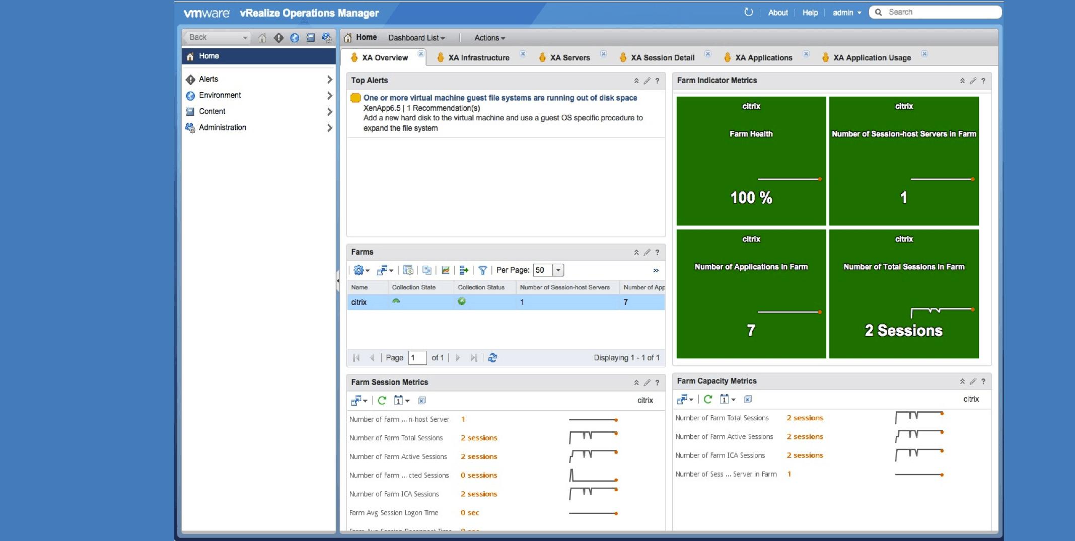 vRealize Operations - Screenshot
