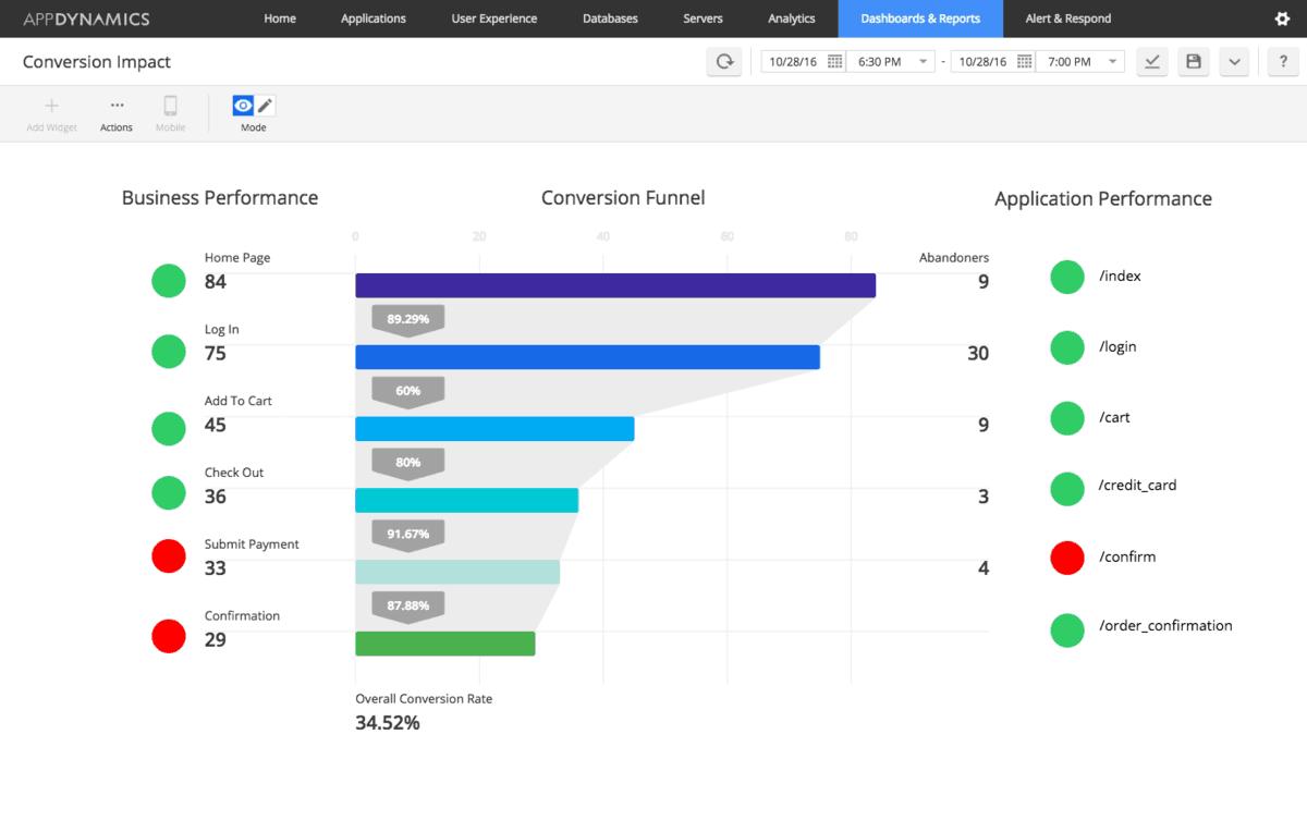 AppDynamics APM Screenshot