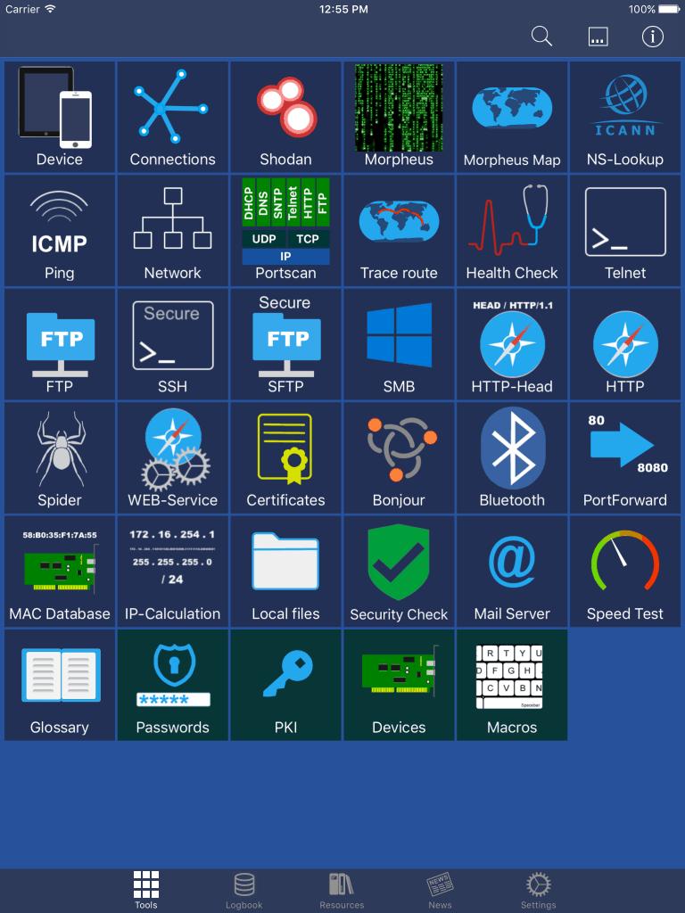 Network Toolbox Main Screen