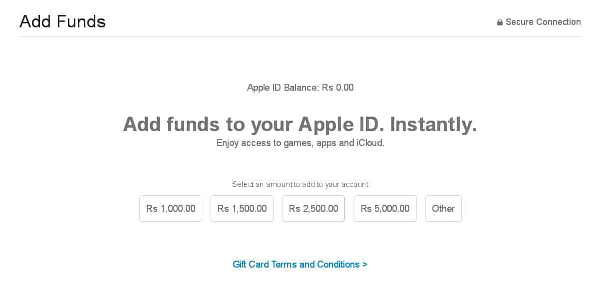 itunes add funds apple id 1