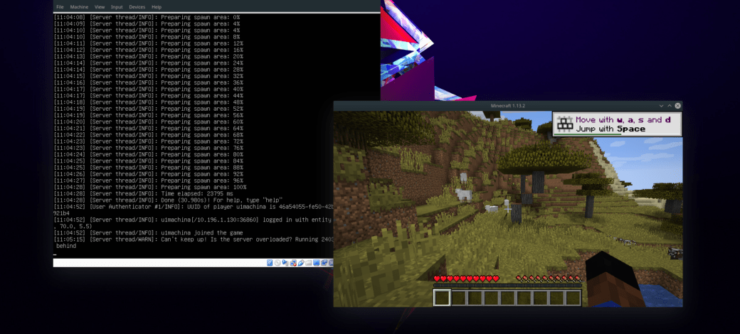 How to host a Minecraft game on a Linux virtual machine