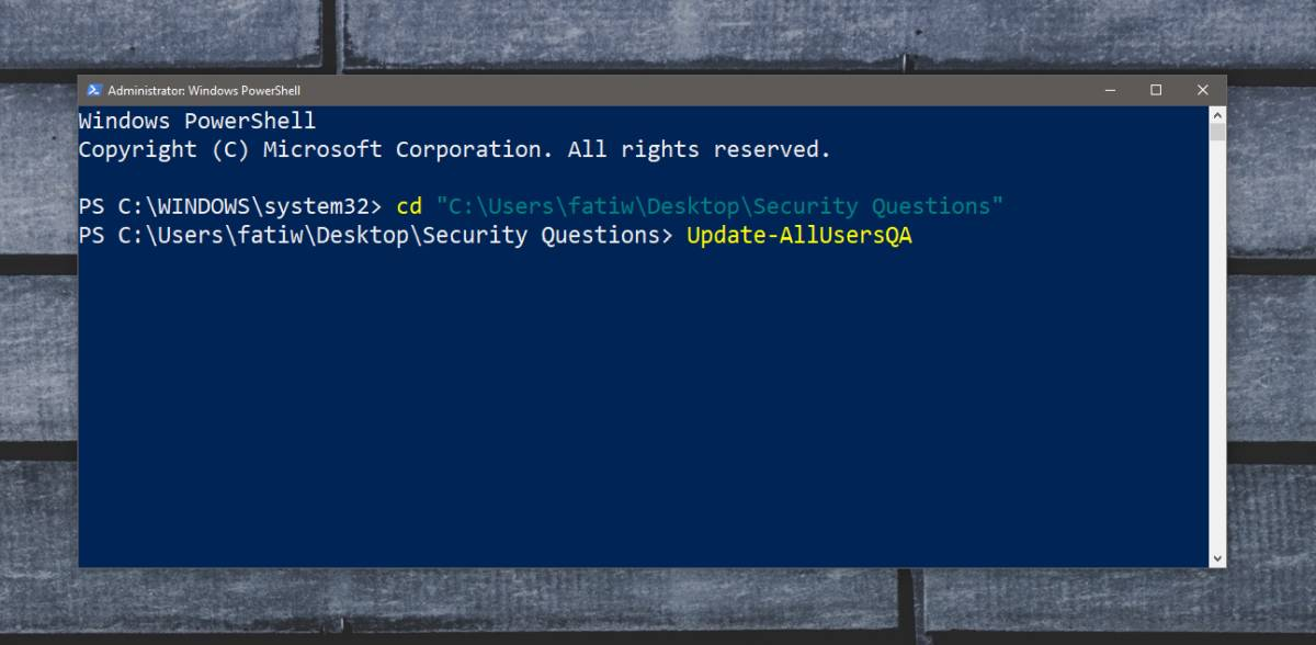 security questions disable