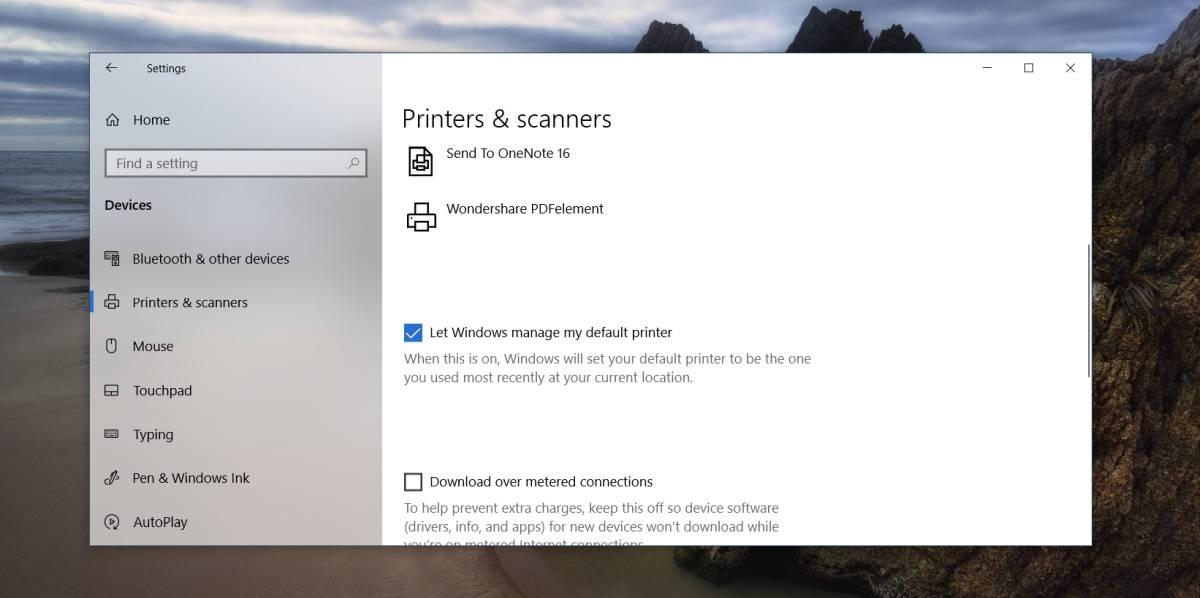 win 10 printer mgt