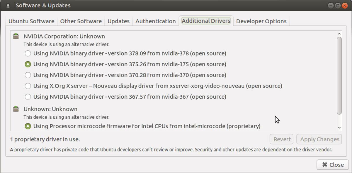 ubuntu-drivers