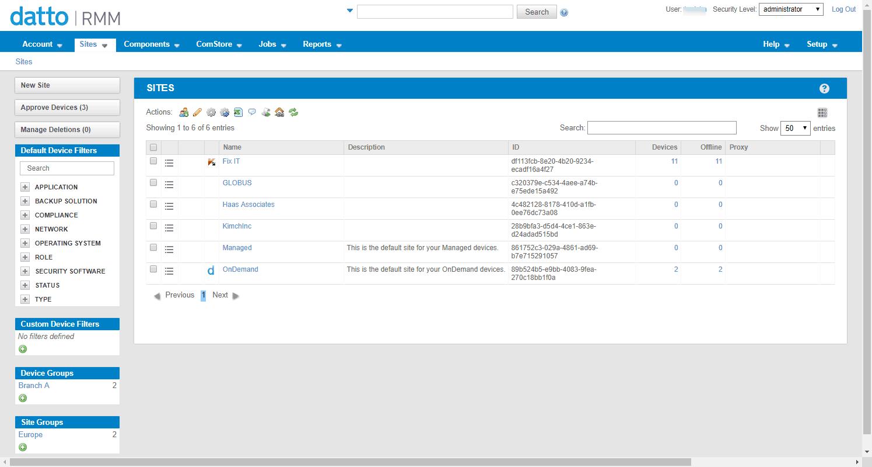 Datto RMM WebPortal