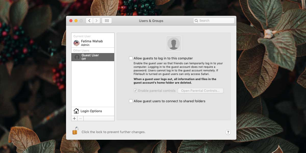 Guest user on macOS 3