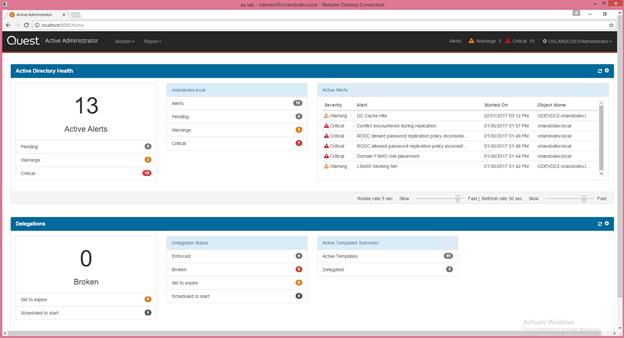Quest Active Administrator Screenshot