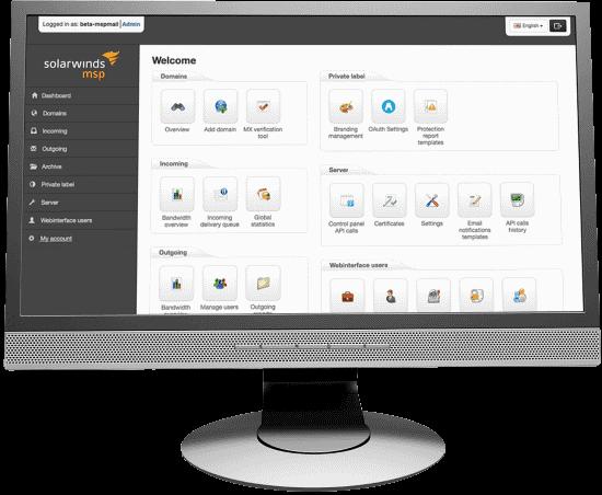 SolarWinds Mail Assure Screen