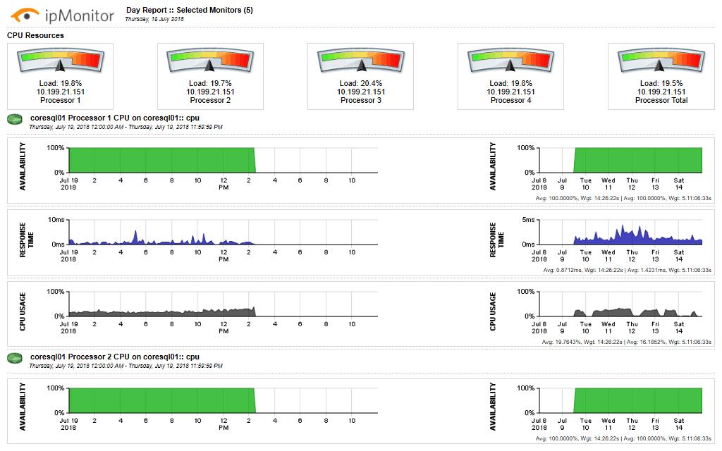 SolarWinds ipMonitor - Sample Report