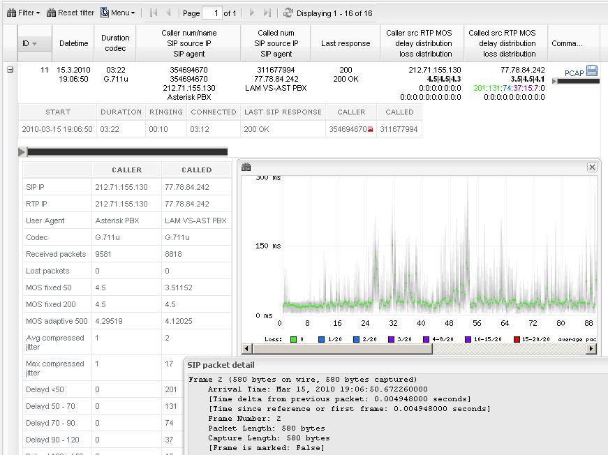 VoIPmonitor Screenshot