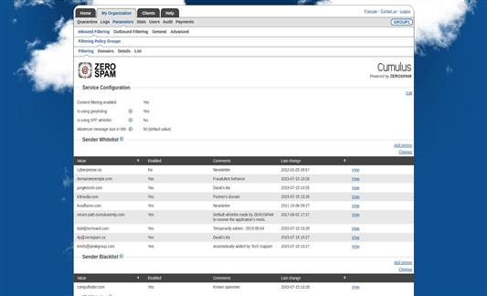 Zerospam Screenshot