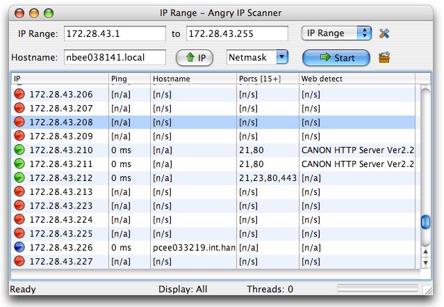 Angry IP Scanner Mac Screenshot