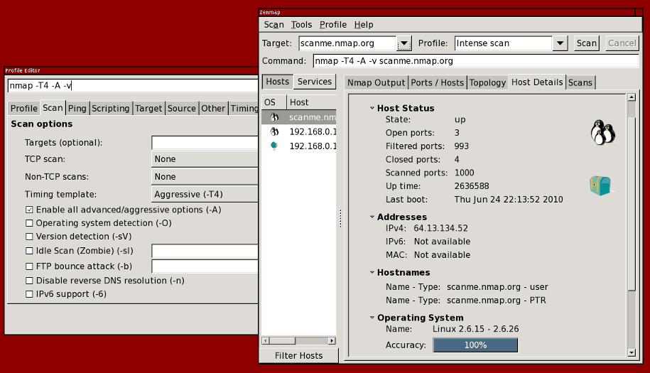 Zenmap Screenshot