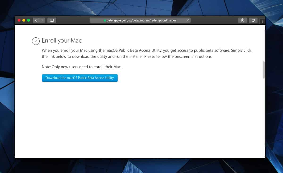 macOS Catalina public beta 2