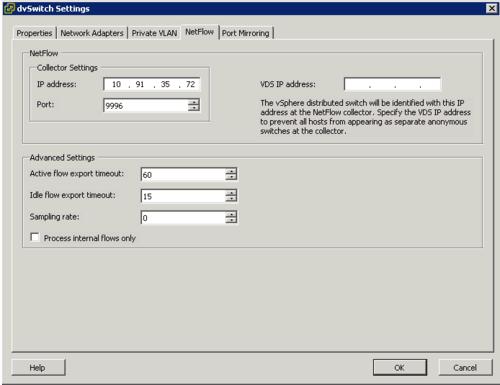 VMware NetFlow Configuration