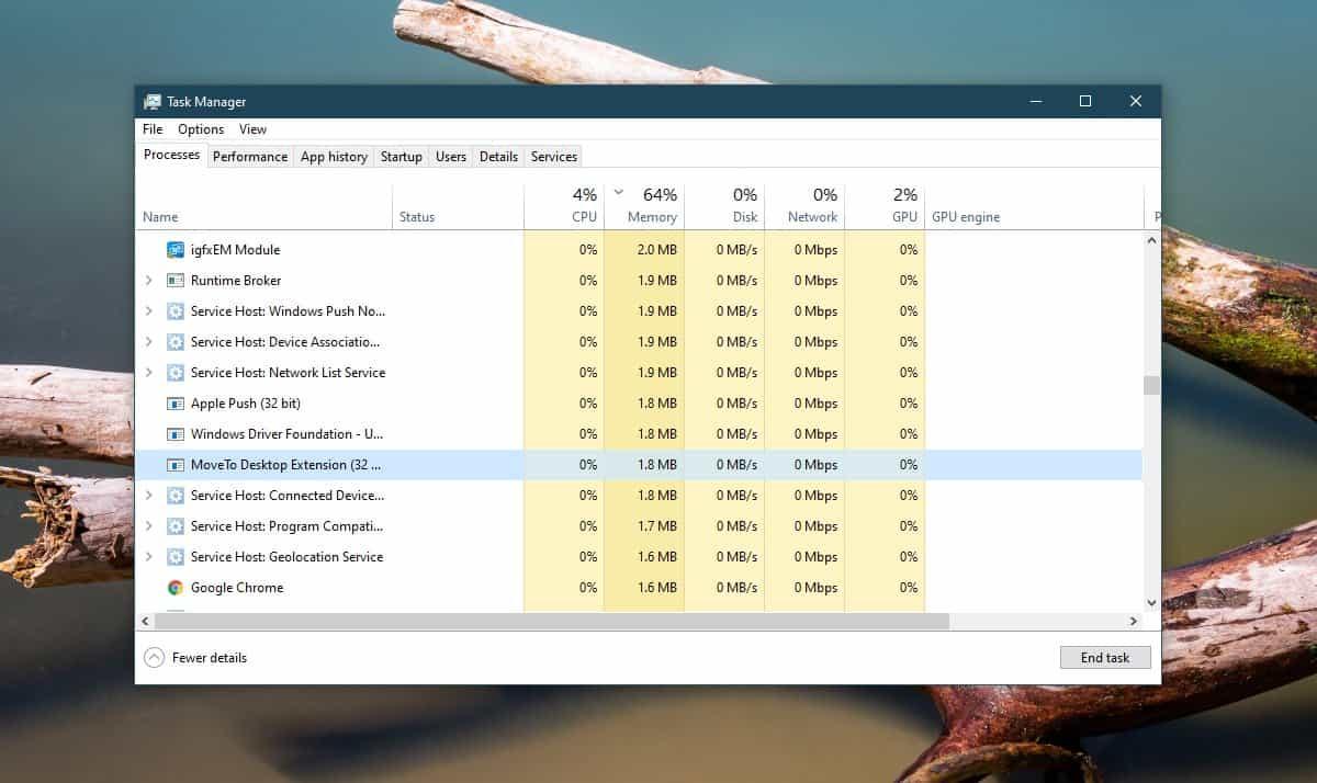quit movetodesktop
