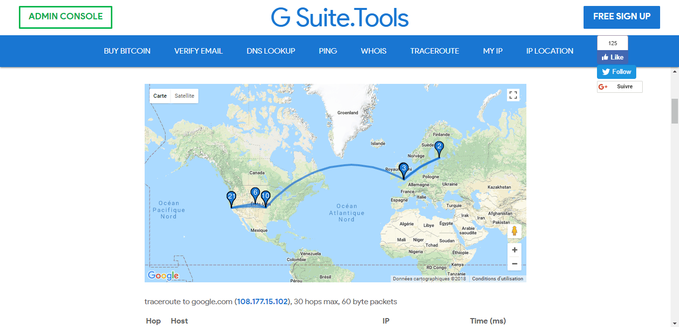G-Suite.Tools Visual Traceroute