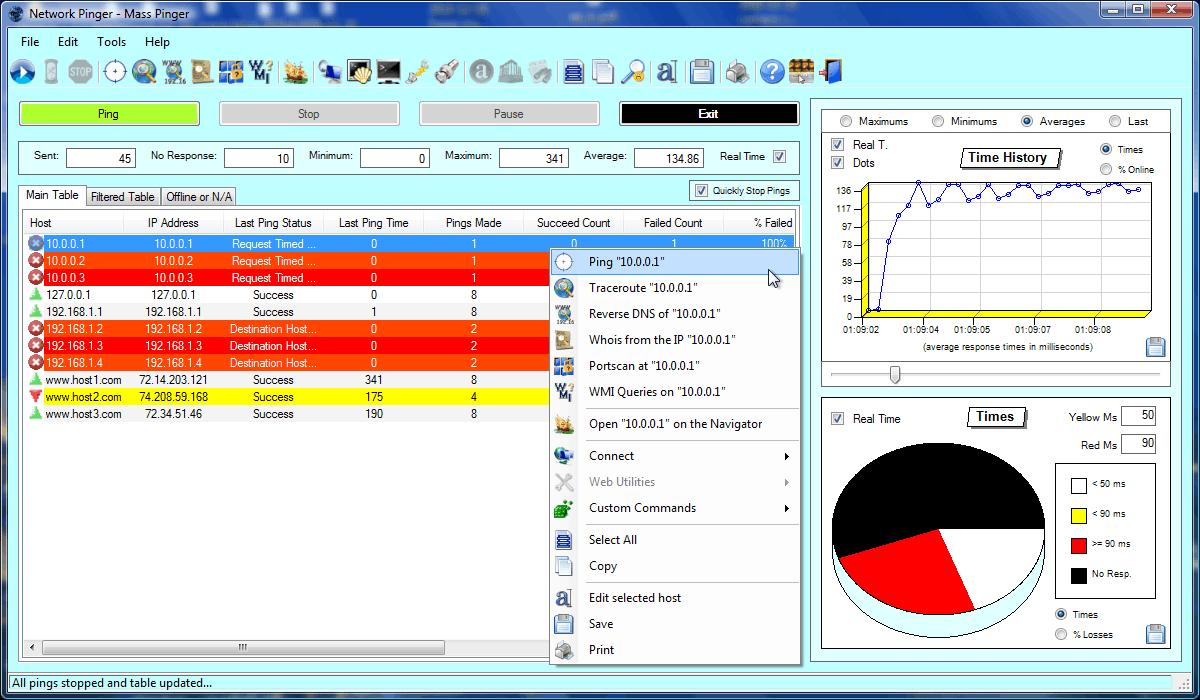 Network Pinger Screenshot