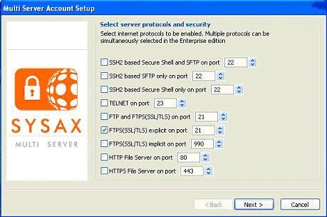 SYSAX Multi Server Screenshot