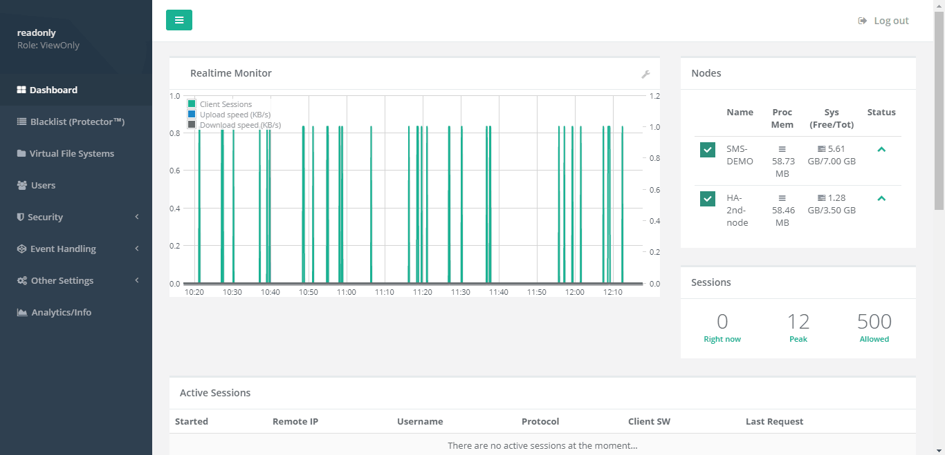 Syncplify.me Server! Screenshot