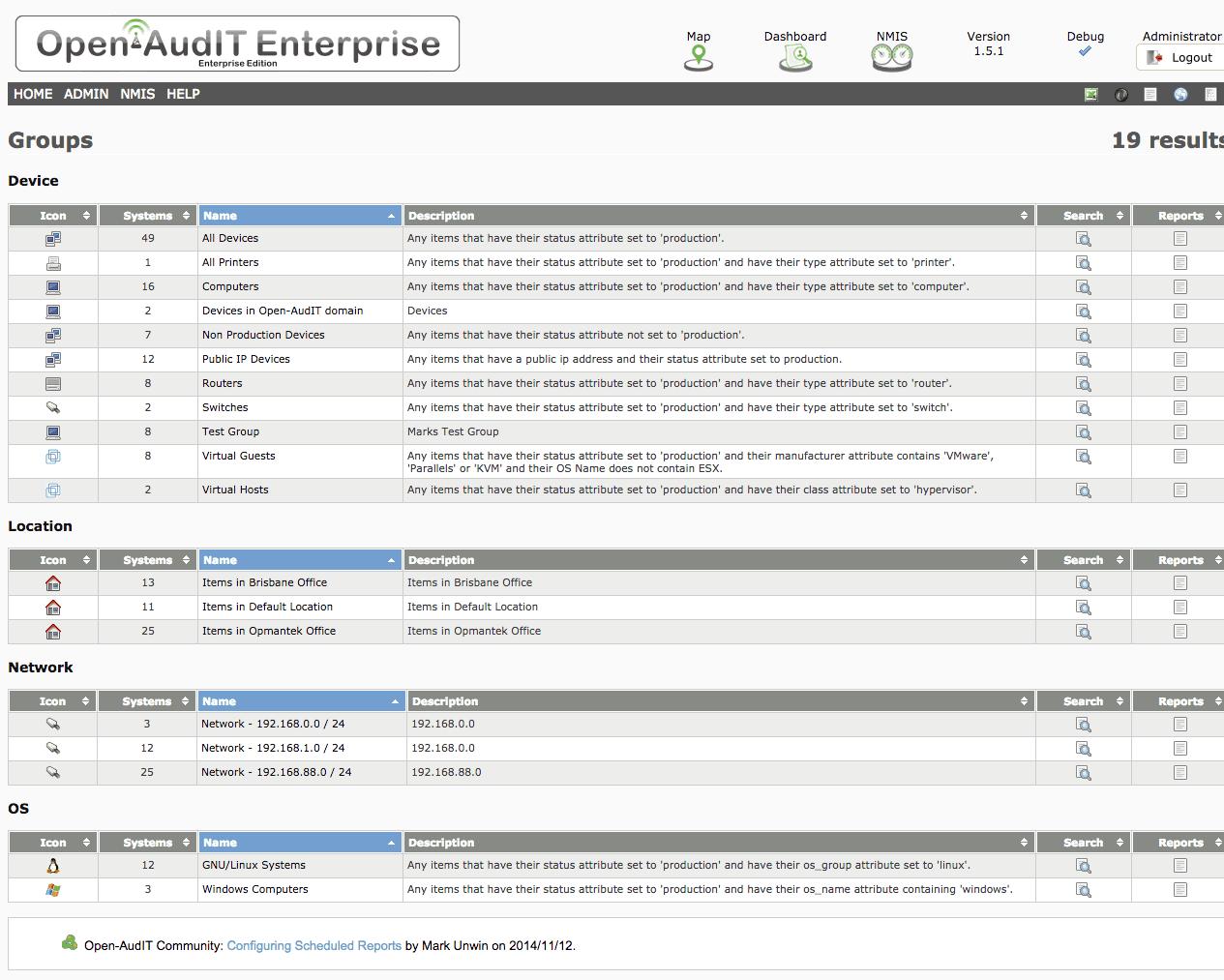 Open-AudIT Enterprise - List Groups