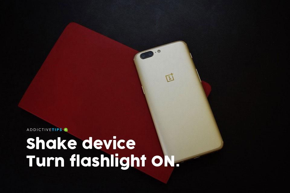 Shake to turn on flashlight (Android)