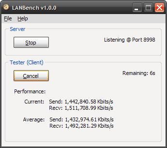 LANBench Screenshot