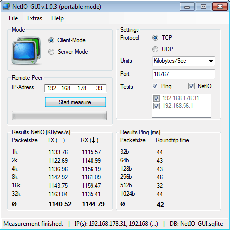 NetIO-GUI Screenshot