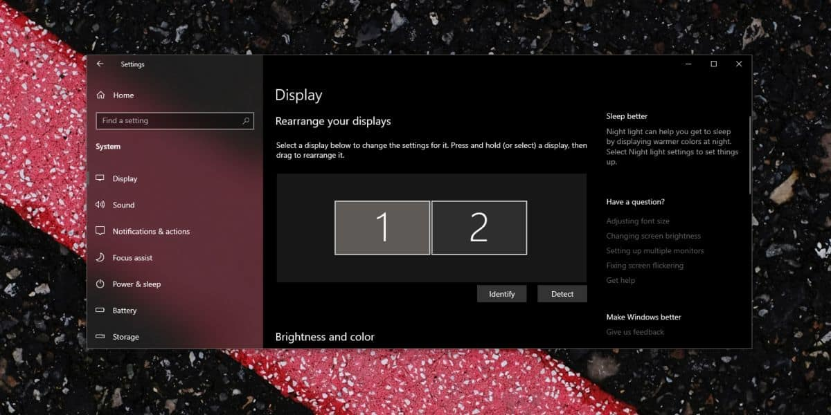 win 10 display select