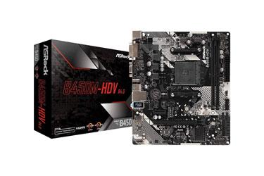ASRock B450M-HDV R4.0 Socket AM4 MicroATX Motherboard