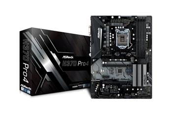 ASROCK Intel H370 Chip Set ATX Motherboard H370 Pro4