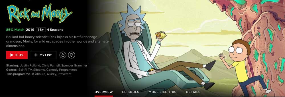Does Netflix have Rick and Morty