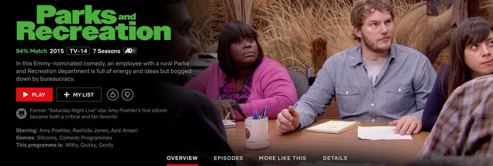 Is Parks and Rec on Netflix?